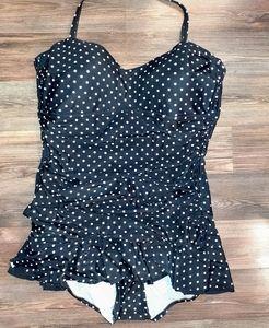 5/25$ Poka Dot 1piece swimsuit